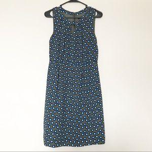 J. Crew - Olive Green & Blue Patterned Dress